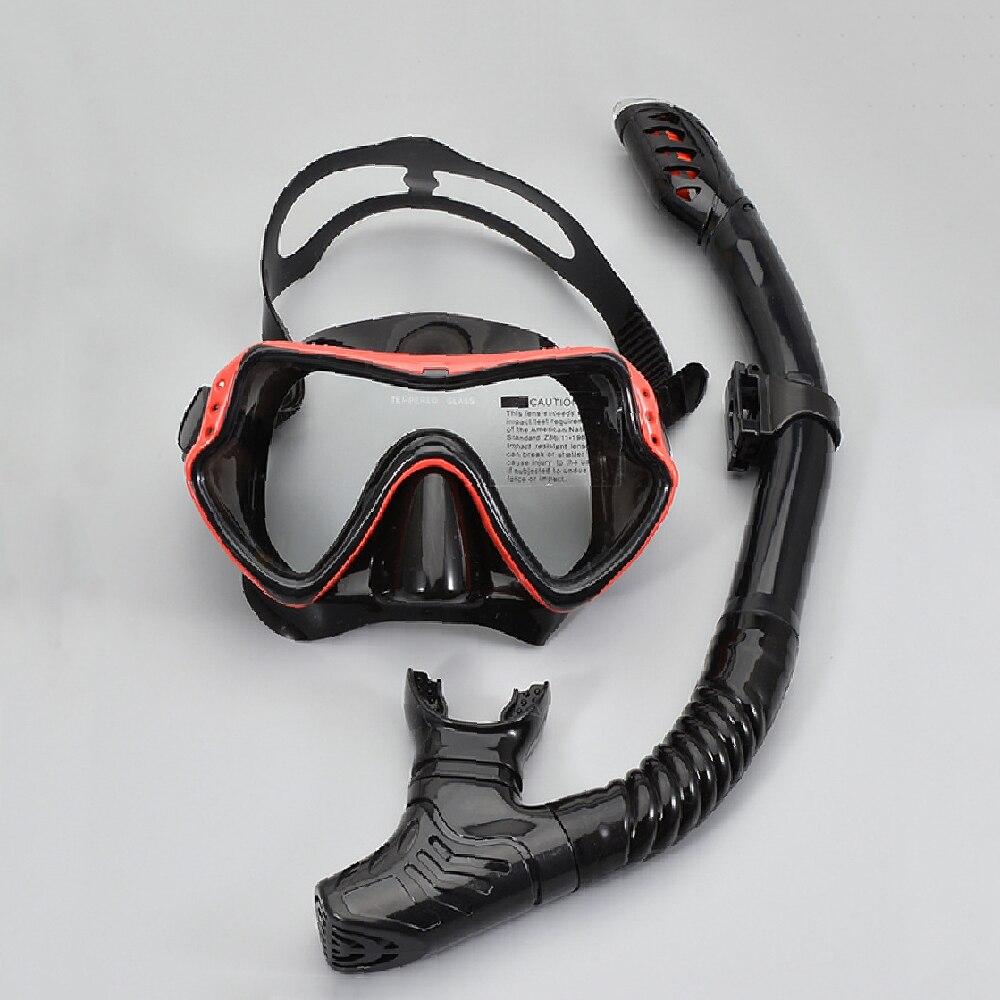 Snorkel Set Scuba Diving Mask Set Anti Leak Dry Top Snorkel Gear Kit Panoramic Silicone Anti Fog Goggle For Swimming Snorkeling