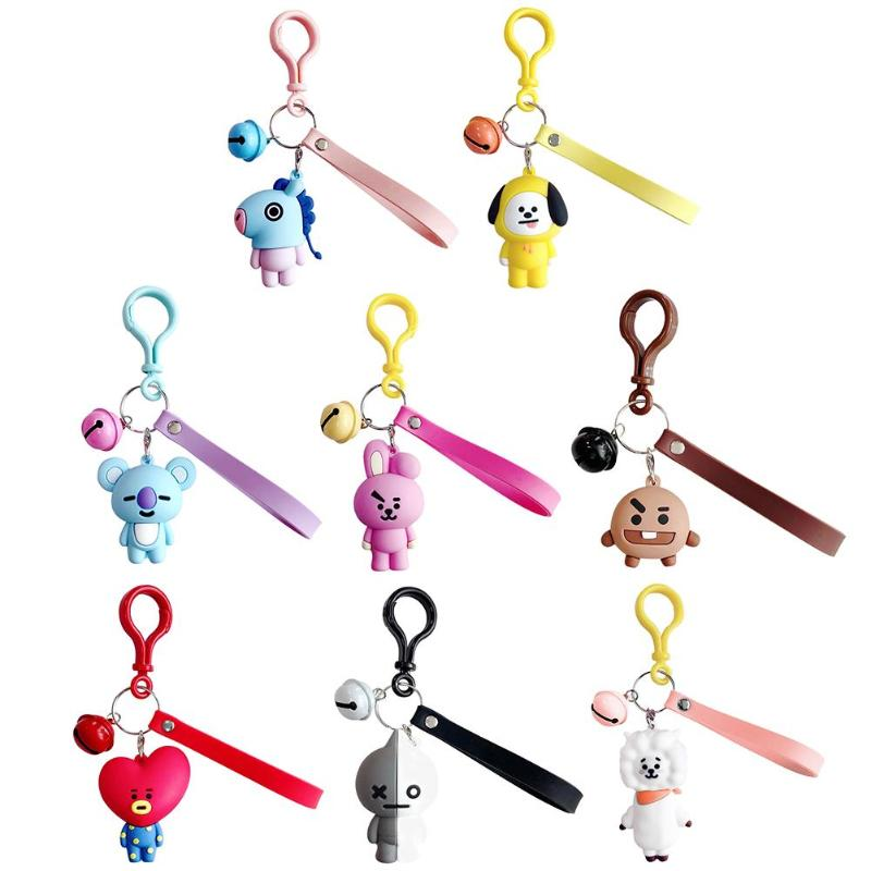 Cute Korean Women Men Cartoon Character Keychain Key Rings Bags Pendant Birthday Gifts Key Hook For Girls Boys Dropshipping