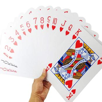 2/4/6/9 Times Extra Large Oversized Playing Cards Poker Funny Board Game Props Large Poker Clear Pri