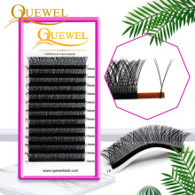 Y Shape Eyelashes Extensions Double Tip Lashes Eyelash Cilios YY Natural Easily Grafting Y Style Volume Lash Faux Mink Quewel