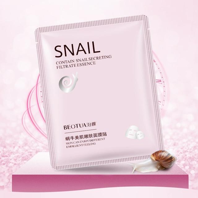 New Snail Essence Facial Mask Oil Control Anti-Aging Shrink Pores Sheet Mask Skin Care Face Mask Hydrating Moisturizing Mask 1