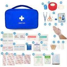 Kit de primeiros socorros de viagem portátil ao ar livre grande saco emergência sobrevivência kit caixa médica vermelho/azul/cinza para casa carro acampamento ao ar livre