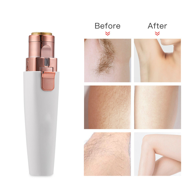 Electric Lady Shaver Epilator Eyebrow Trimmer Mini Portable Women Body Shaver Lipstick Shape Hair Removal Painless Face Trimmer