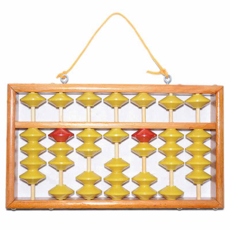7 Column Non-Slip Hanging Wooden Abacus Chinese Soroban Educational Tool Mathmetic Calculator for Student Teacher
