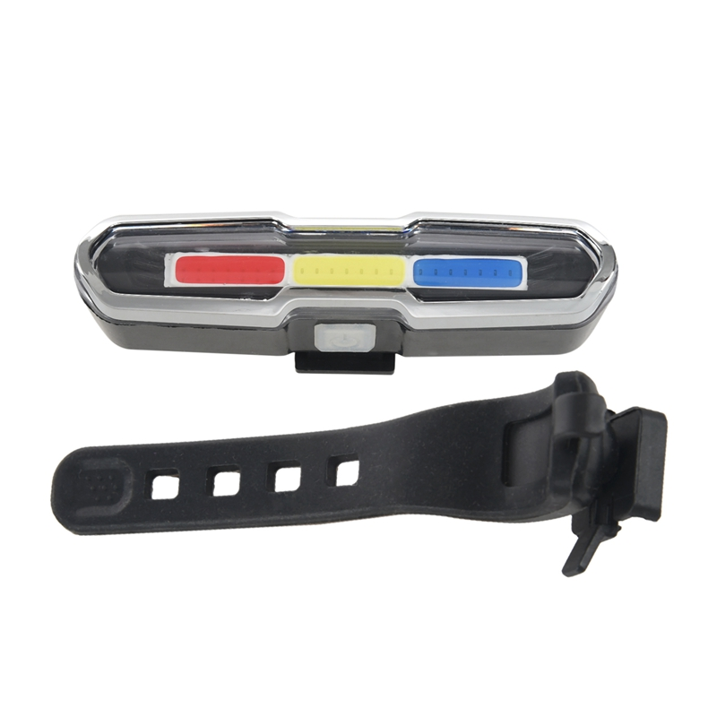 High-End LED <font><b>Bike</b></font> Bicycle Tail <font><b>Light</b></font> <font><b>White</b></font>, <font><b>Red</b></font> & Blue 46 COB Super Bright USB Rechargeable Waterproof Multipurpose Emergency image
