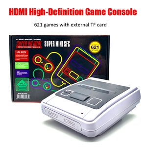 Super SNES Video Game Console with 621 Retro Classic Games 4K TV HDMI /AV 8 Bit Game Console Handheld Game Player Gamepad