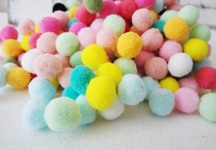15mm candy-colored fur ball Kids creative hand-made diy accessories plush ball children's clothing fabric decoration materials