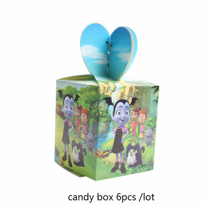 Vampirina utensílios de talheres para meninas, placas de papel descartáveis para chá de bebê, decoração de natal