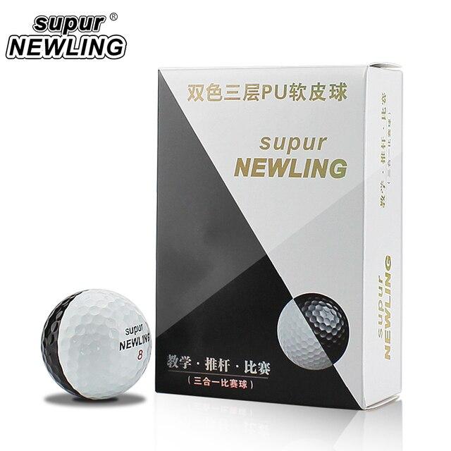 Мячи для игры в гольф на супер большом расстоянии 6 шт./кор. трехслойные шары из ПУ подходят для желобов черного и белого цвета