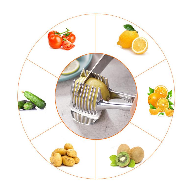 Details about  /2019 New Kitchen Gadgets Onion Slicer Tomato Vegetables Safe Fork vegetables Sli