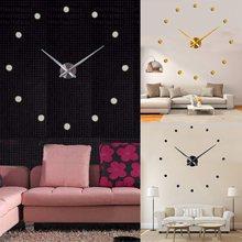 3d diy dot super acrylic mirror wall clock home fashion decoration