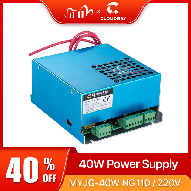 Cloudray 40 ワットCO2 レーザー電源MYJG 40T 110v 220 CO2 レーザー彫刻切断機用 35 50 ワットmyjg