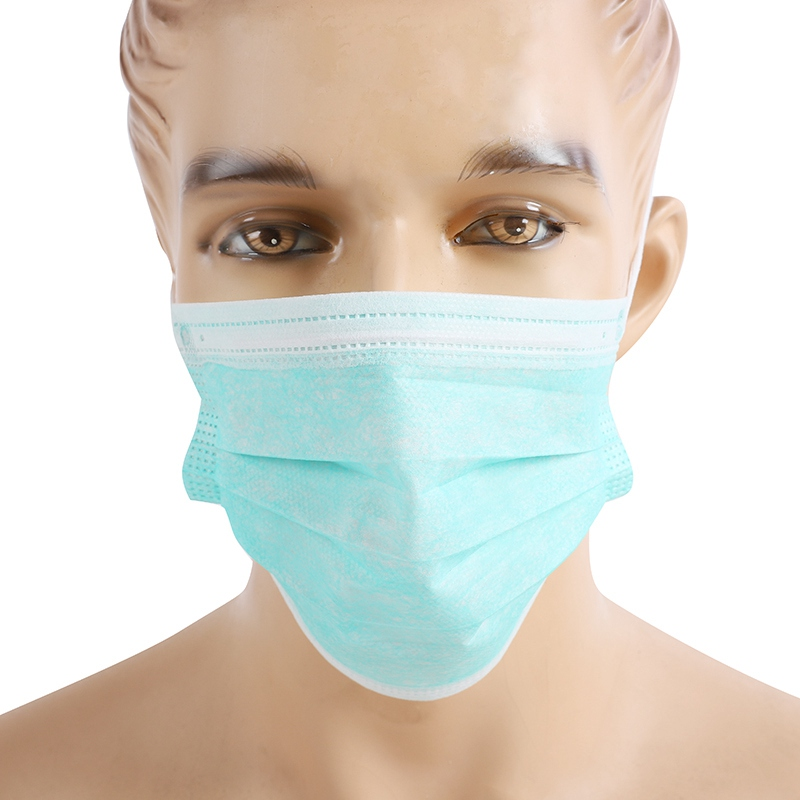 50Pcs/Box Disposable Epidemic Mask Blue Three Layers Of Non-woven Fabric Dustproof Mask