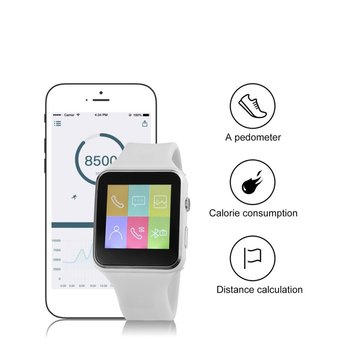 Wireless Bluetooth Smart Watch NFC Anti-lost Pedometer SportWristwatch Bracelet TF Card With 1.3MP Camera Band For iOS Android
