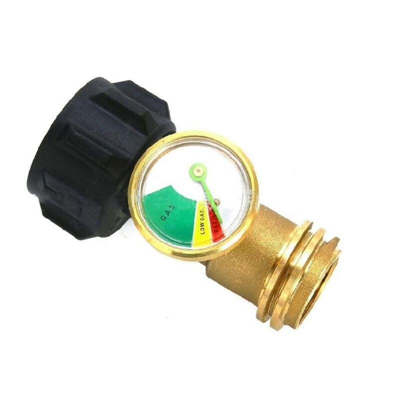 Aletler'ten Basınç Göstergeleri'de Propan tank göstergesi seviye göstergesi kaçak dedektörü basınç ölçer QCC1 bağlantı gaz ızgara için ısıtıcı RV Camper title=