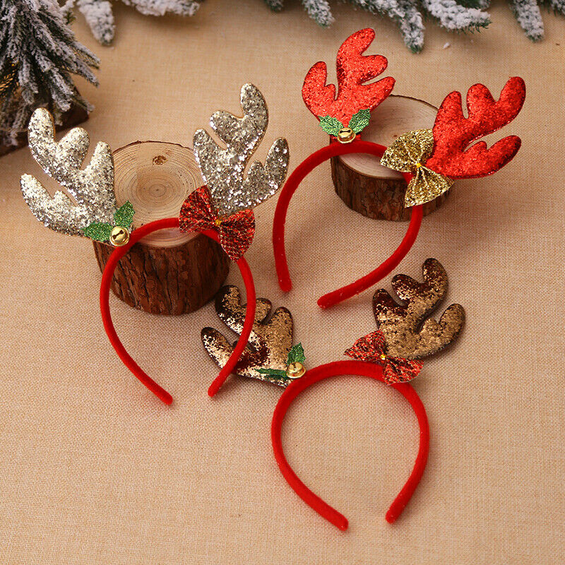 Hot Christmas Headbands Fancy Reindeer Antlers Hairband Xmas Kids Baby Hairhoop Party Decor Headwear Hot Hair Accessories Gift