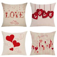 Retro rose Linen cushion case flower Home Decor Bedroom Decorative Sofa Car Throw Pillows Cushion Cover for Sofa Pillowcover