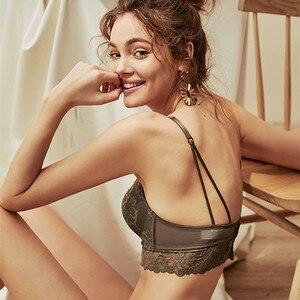 Image 3 - Termezy 새로운 여성 속옷 세트 레이스 섹시 푸시 업 브래지어와 팬티 세트 편안한 브래지어 블랙 자수 꽃 란제리
