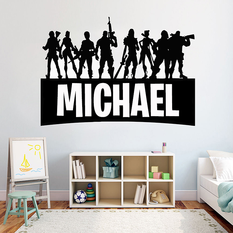 5/' Gamer My Name decal Minecraft inspired name 3d looking Wall Vinyl Decal decor