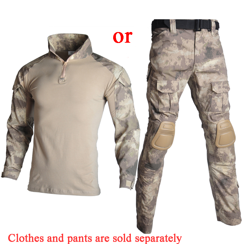 Outdoor Military Clothings Tactical Uniforms Camouflage Shooting Airsoft T-shirt Airsoft Paintball Combat Camo Army Combat Suits