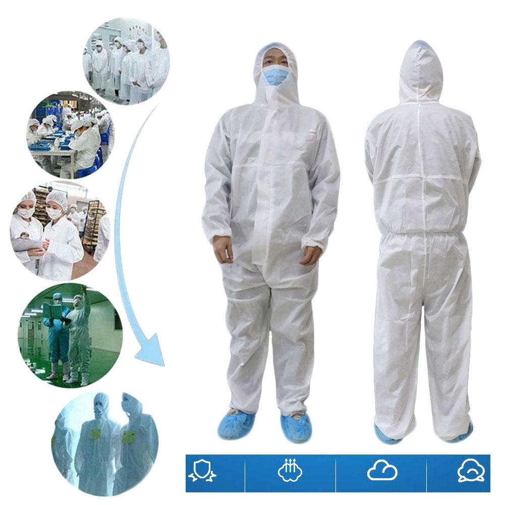 Disposable Clothing Factory Hospital Safety Coverall Protection Isolation Suit White Coverall Hazmat Suit Safety Clothing