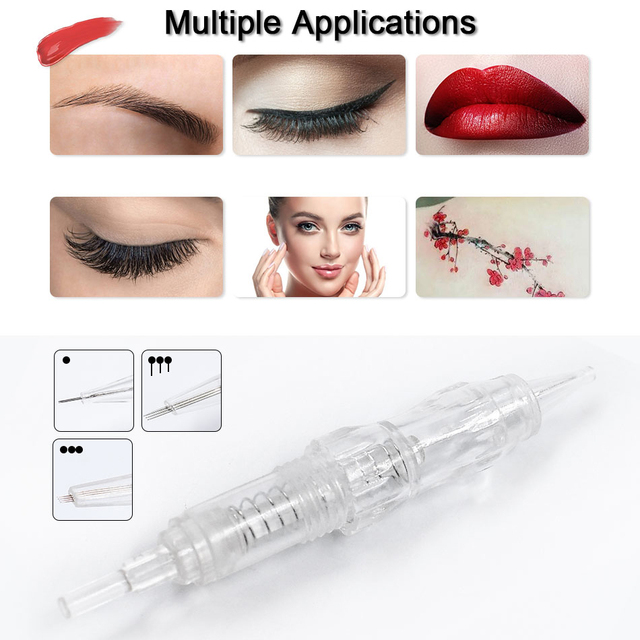 10pcs Cartridge Needle 2F 3F 4F 5F 7F Permanent Microblading Needle Disposable for Eyebrow lip Makeup Pen Machine Needles Tips 4