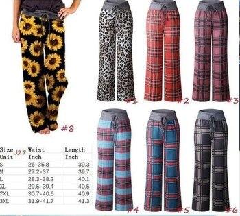 Plus Size Fashion Autumn Leopard Printed Wide Leg Pants Women High Waist Loose Pants Elegant Office Ladies
