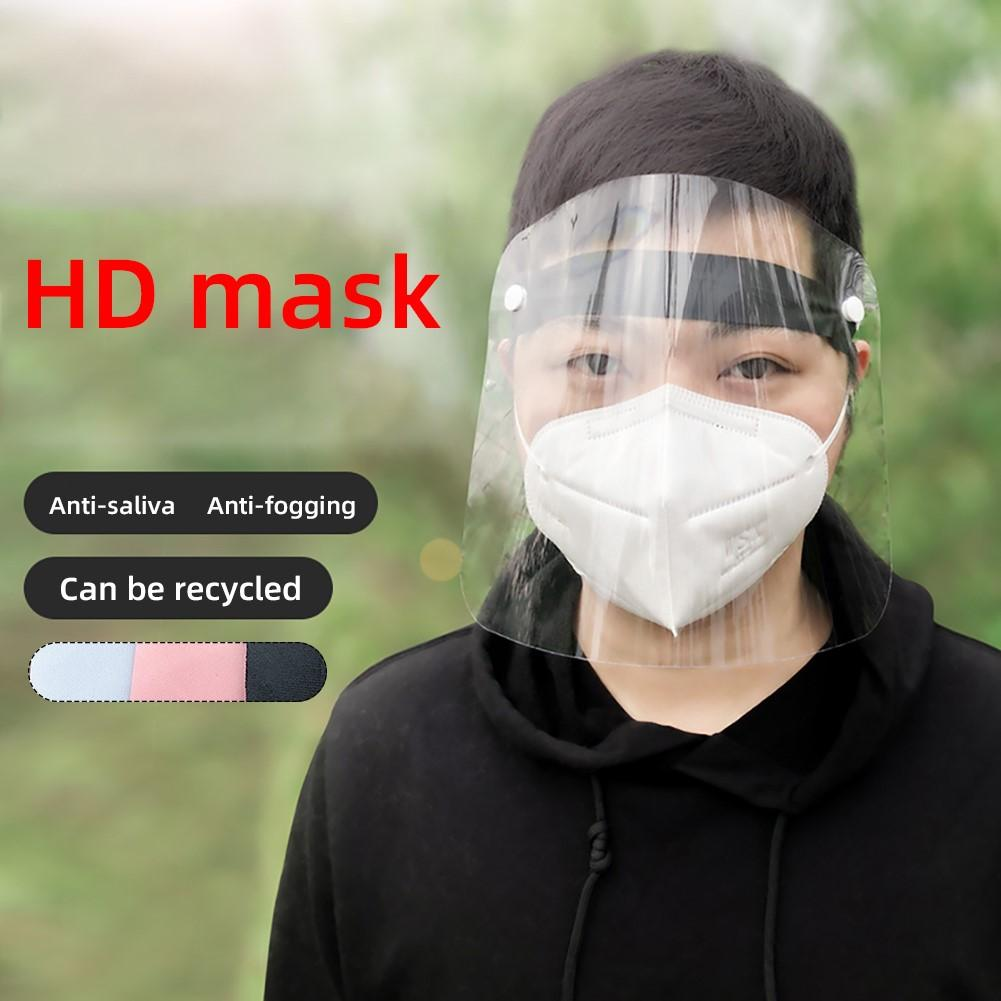 Protective Respirator PVC Lightweight Transparent Face Shield Anti-pollution Anti-splash Isolation Protective Mask