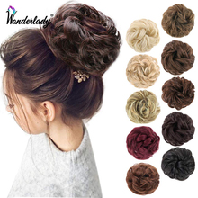 Hairpieces Elastic-Band Chignon Scrunchy Messy Bun Updo Curly Fluffy Synthetic Women