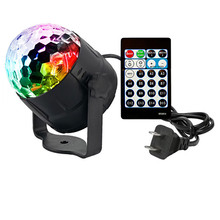 Binval 15 Colors Car DJ Disco Ball LED Party Lights RGBP Stage Lighting Effect Lamp Light Music Christmas KTV