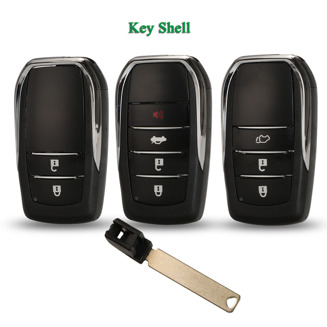Bilchave 2 3 4 przyciski inteligentny zdalnie sterowanym samochodowym obudowa kluczyka Fob dla Toyota Fortuner Prado Camry Rav4 Highlander inteligentny korona tanie i dobre opinie CN (pochodzenie) China Key Shell 4 Buttons 3 Buttons 2 Buttons