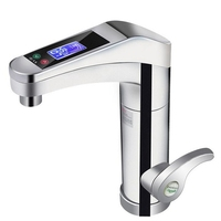 Intelligent Automatic LCD Display Instant Electric Water Heating Faucet Instantaneous Instant Tankless Water Heater Hot Tap EU P