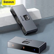 Baseus-interruptor HD 4K con 3 puertos USB, caja para compartir teclado, ratón, juego de Audio, 4K, HD 2,0