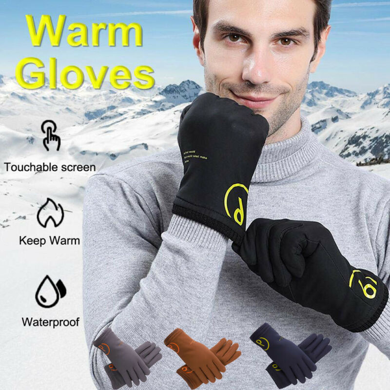 New Mens Womens Full Finger Gloves Waterproof Thermal Warm Touch Screen Mittens Winter Cycling Ski Outdoor Gloves