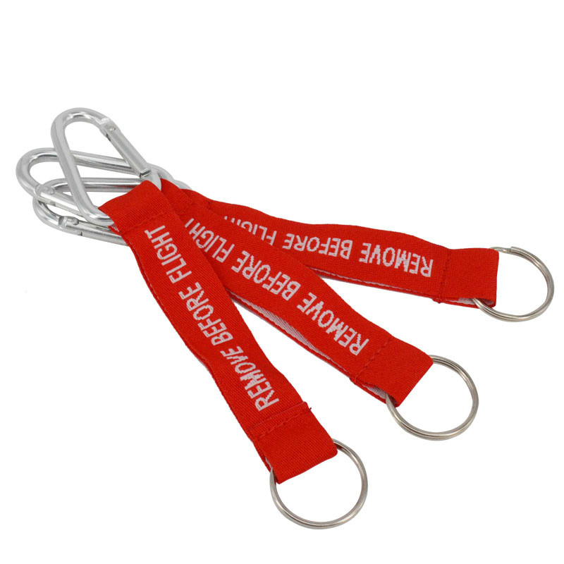 Remove Before Flight Key Chains Llaveros Hombre Red Embroidery Aviation Gifts OEM Key Chains Jewelry Keyring Chain 3 PCS/LOT