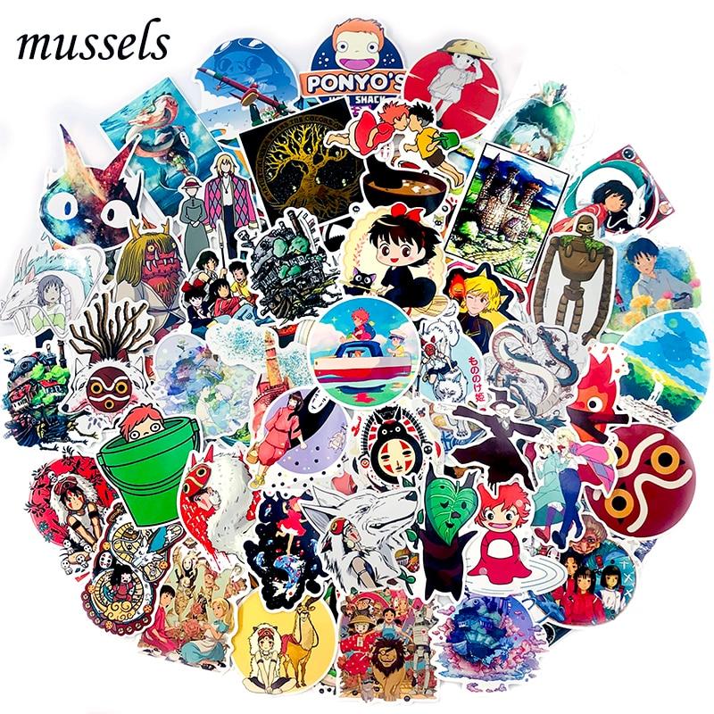 50-100Pcs Japanese Miyazaki Hayao Animated Totoro Sticker Scrapbooking For Toy Skateboard Guitar Car Decorative Luggage Suitcase