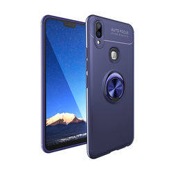 На Алиэкспресс купить чехол для смартфона luxury metal ring phone case for vivo v9 z5x iqoo z1 pro y7s y3 y17 x27 x23 v15 shockproof case soft smooth magnet back cover