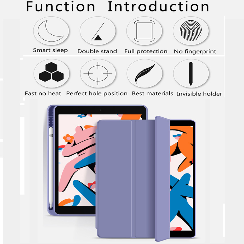 Funda Case For Apple iPad 10 2 2020 2019 flip Case with Pencil Holder For iPad