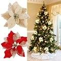 10 pçs/12 pçs flores artificiais para decoração glitter grinalda de natal falso flores de natal diy casa decoração de casamento ferramentas