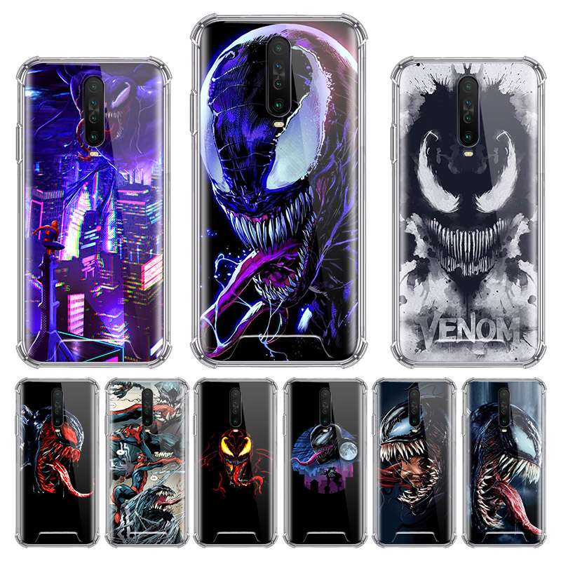 Marvel Movie Venom Case for Xiaomi Redmi Note 8T 9 Pro Max 8 9S 7 6 7A 6A K20 K30 Pro Zoom Airbag Anti Sac Phone Shell image