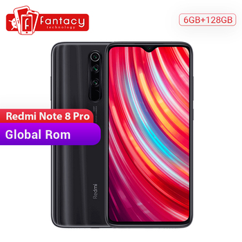 Global ROM Xiaomi Redmi Note 8 Pro 6GB 128GB Mobile Phone 64 MP Quad Camera 6.53'' FHD+ Screen 4500mAh 18W QC 3.0 UFS 2.1 1
