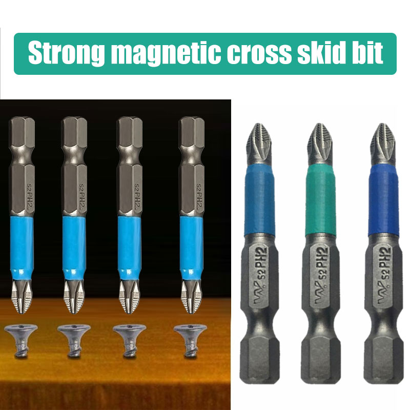 Random Color Turning Head Screwdriver Screwdriver Ph2 Parts Hexagonal Bit Tool Accessories Magnetic Connection Post