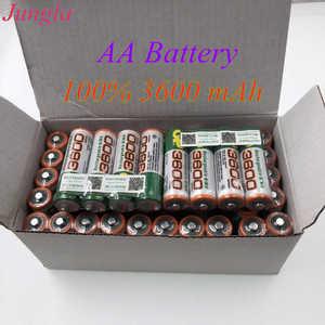 100% новый Аккумулятор AA 3600 мАч, перезаряжаемый Ni-MH 1,2 В AA аккумулятор для часов, мышей, компьютеров, игрушек так далее