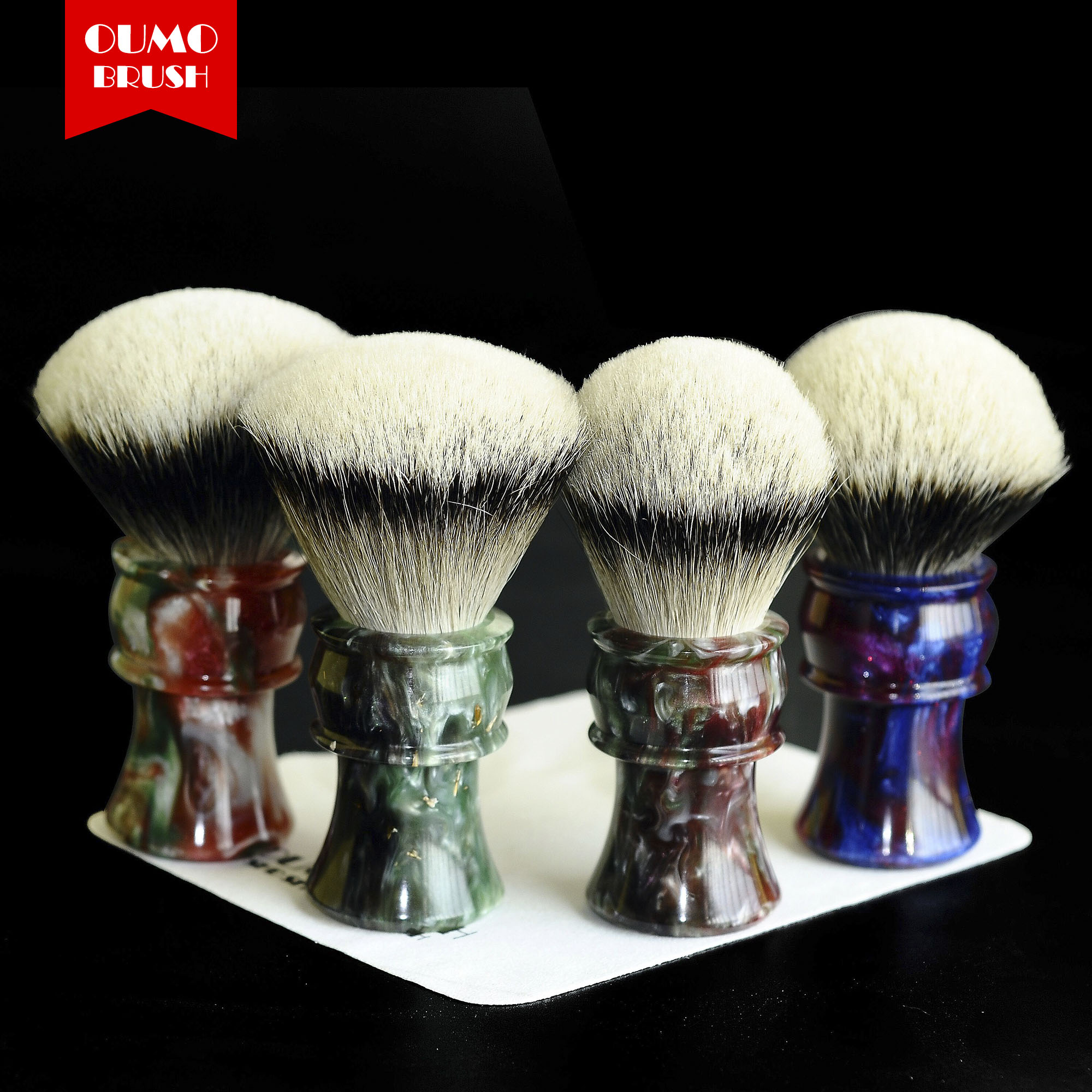 OUMO BRUSH - 2019/9/17 TITAN Art Shaving Brush With SHD HMW Silvertip Manchuria Finest 2 Band Gel City 30MM