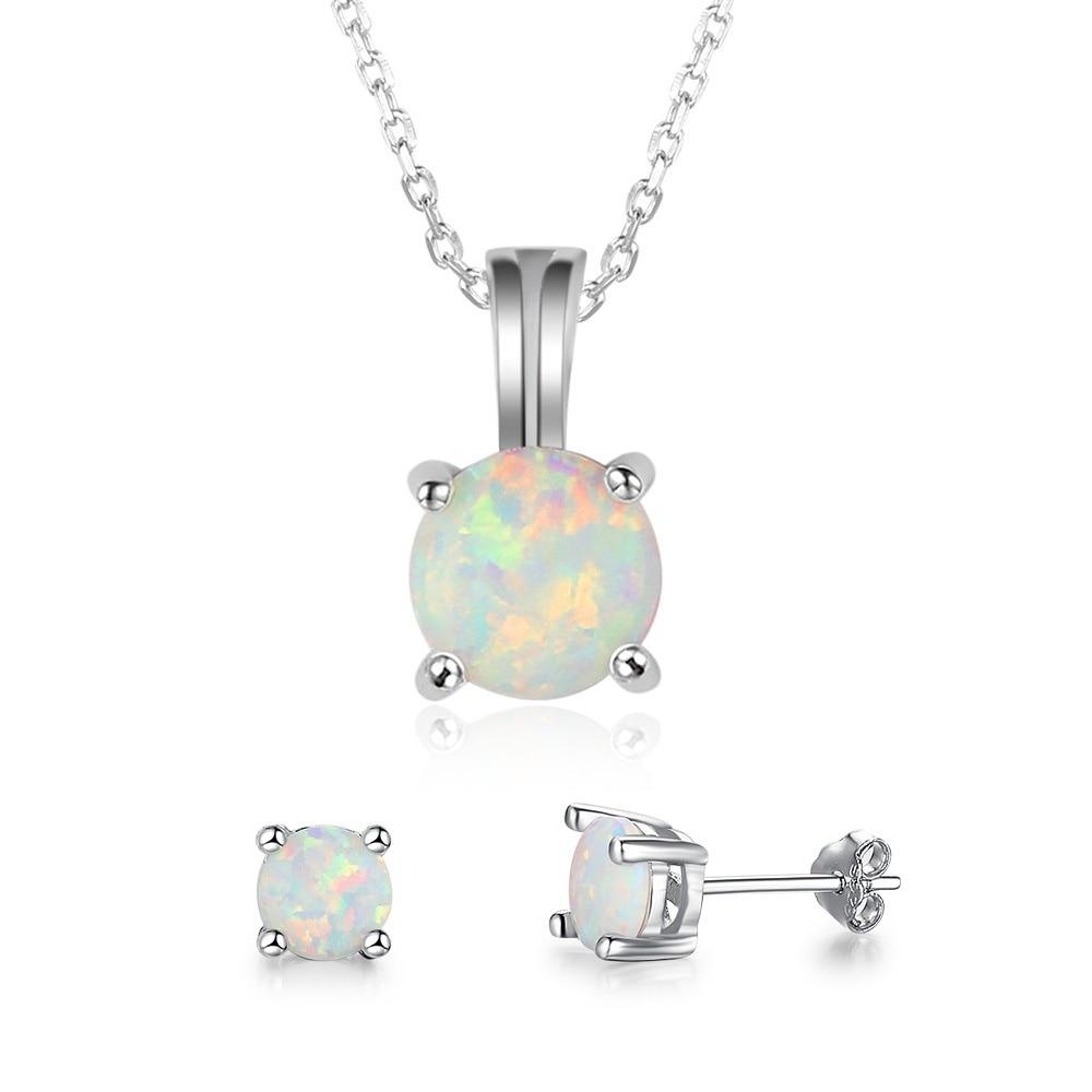 Модный милый комплект ювелирных изделий из круглых ожерелий и серег, Трендовое женское ожерелье с подвеской и серьги-пусеты, набор для деву...
