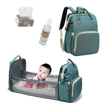 Mommy Bag Bassinet For Baby Bed Foldable Backpack Newborn Travel Indoor Backpack Breathable Infant Sleeping Basket