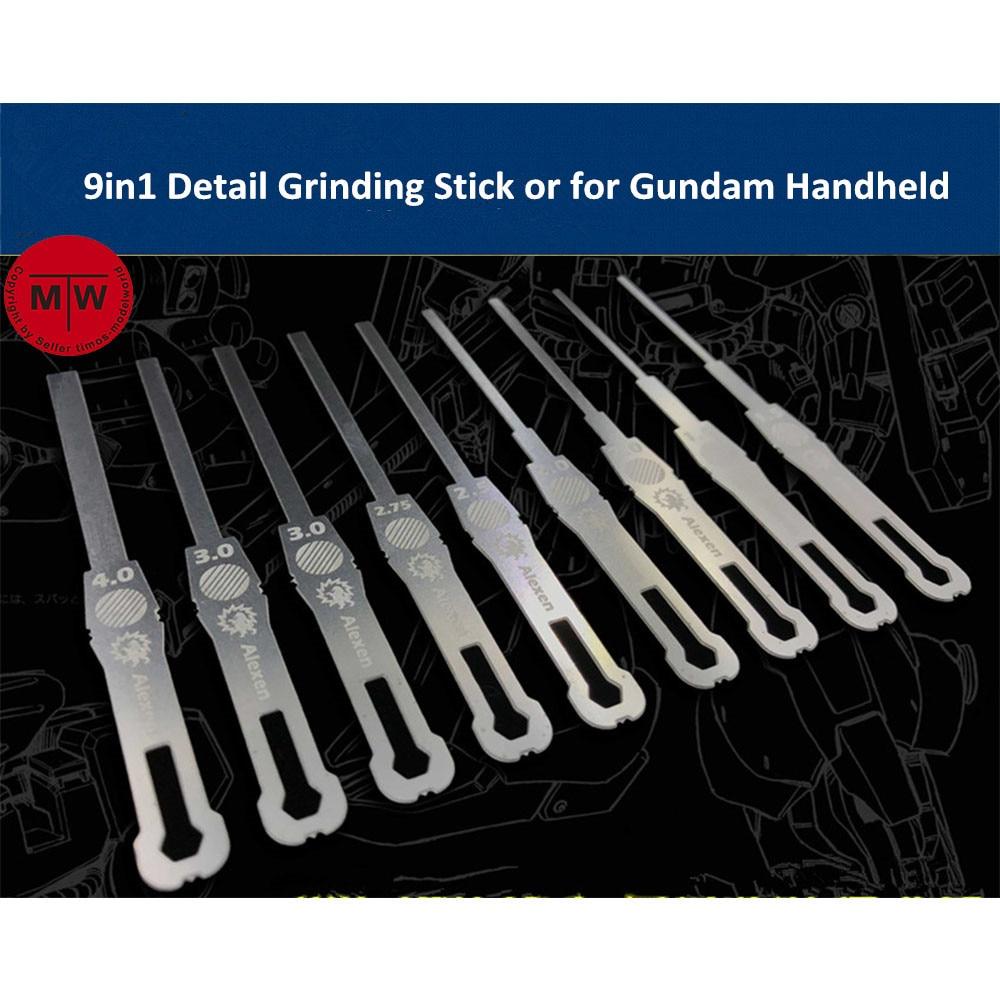 9in1 detalhe moagem vara arquivo modelo ferramentas de construção para gundam 1/144 escala handheld decoração aj0068