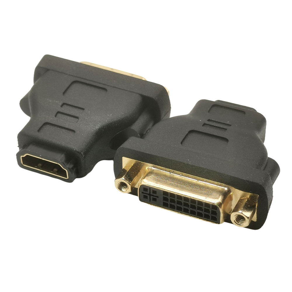 1pcs DVI TO HDMI ADAPTER DVI-I 24+5 TO HDMI FEMALE TO FEMALE ADAPTOR HDMI TO DVI