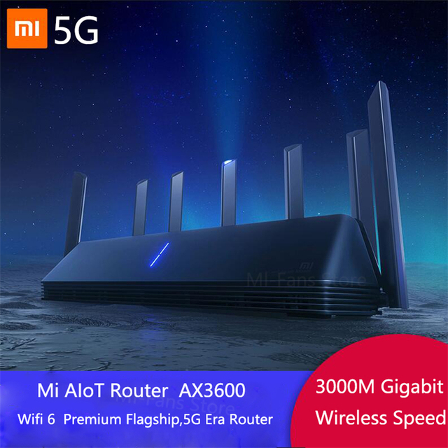Novo xiaomi ax3600 aiot roteador wifi 6 5g wifi6 600 mb de banda dupla 2976mbs gigabit taxa qualcomm a53 amplificador de sinal externo