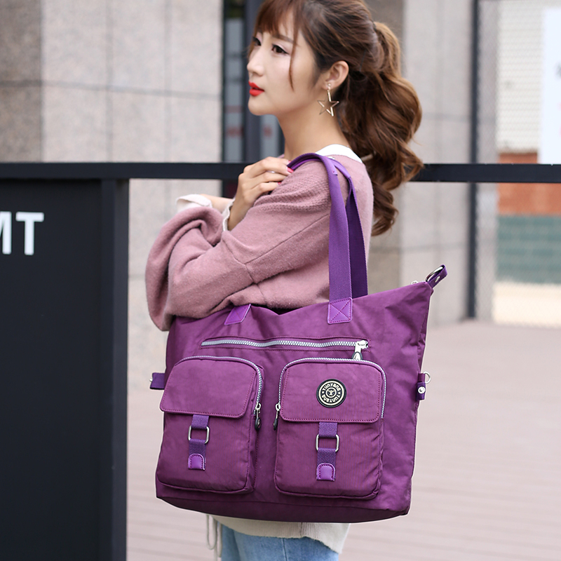 Big Nylon Women Bags 2019 Waterproof Ladies Crossbody Bag Large Capacity Travel Shoulder Bag Multi Pockets Casual Female Handbag